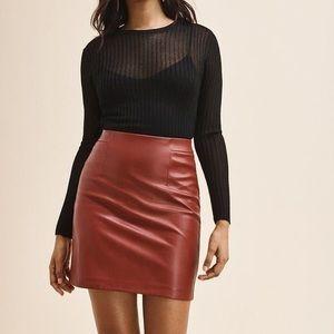 Dynamite mini faux leather pencil  skirt
